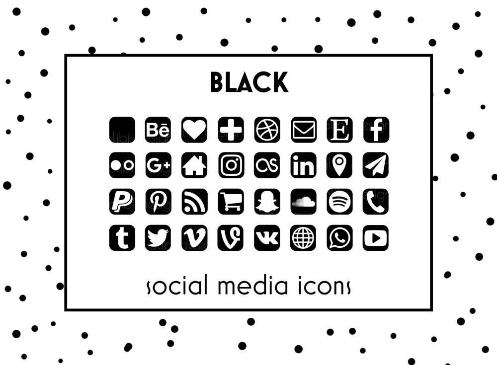 Social media icons black icons black button social icons zoom colourmoves Images