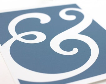 Ampersand Art Print / Typography Wall Art Poster / 8x10 / Personalized Colors