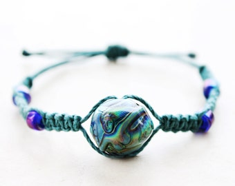 Mermaid Mood Bead Hemp Bracelet - Hemp Jewelry