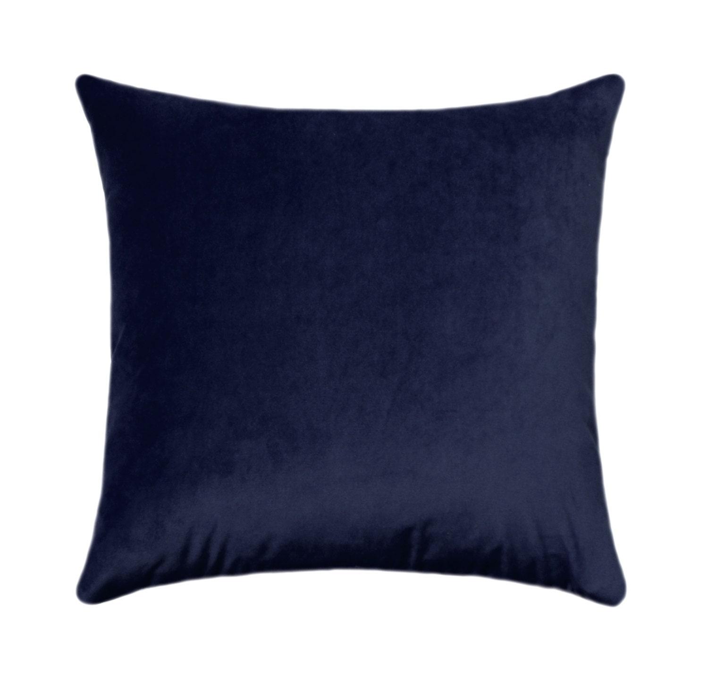 Navy Blue Velvet Pillow Cover // Solid Navy Velvet // Navy