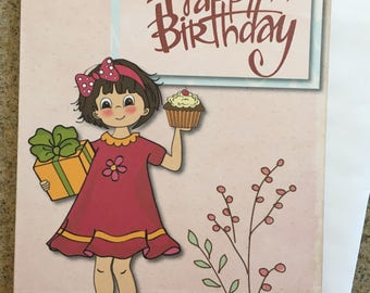 Item #107 Happy Birthday Greeting Card - May He grant you according to your heart's desire, and fulfill all your purpose. Psalm 20:4