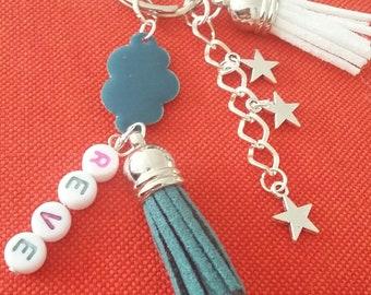 Keyring or bag dream - tassels, stars and cloud charm