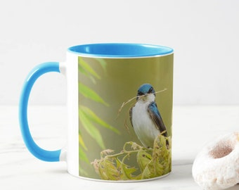 11 OZ Tree Swallow Mug - Stick with coffee!