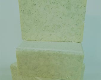 Sea Salt Neroli Soap Bar Coco and Shea Butter Olive Avocado Coconut Oil exfoliating