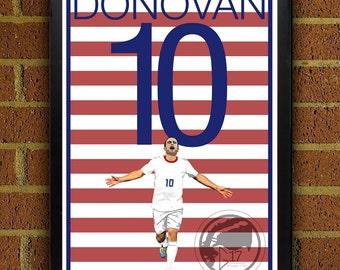 Landon Donovan Poster - USMNT - USA Soccer Poster- 8x10, 13x19, poster, art, wall decor, home decor, world cup