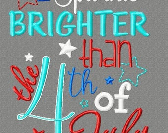 SAMPLE SALE, I Sparkle Brighter than 4th - Girls 4th of July Shirt - Boys 4th of July Shirt - Kids Patriotic Shirt - Independence Day Shirt