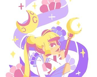 Magical Girl Illustrative Print