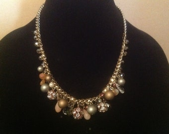 Chain Clustered Danglies Necklace