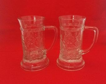 Tiara Clear Beer Steins - Set of Two (2)