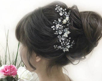 Bridal Hair Pin Wedding Bobby Pin Beaded Hair Piece Barrettes For Brides Beaded Headpiece Wedding Hair Pin Pearl Hair Pin Bridal Accessories