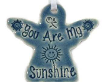 Christmas ornaments Christmas gift for granddaughter gift for daughter angel gift You Are My Sunshine Christmas ornament angel ornament