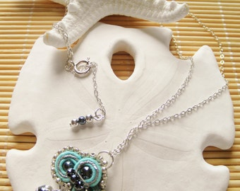 Sterling Silver Soutache Necklace