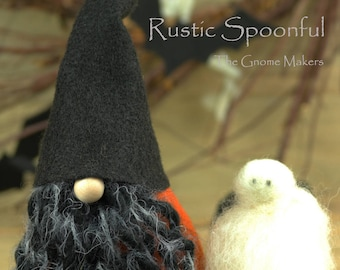 Halloween Gnome and Ghost, Halloween Table, Candy Gnome, Nordic Gnomes, Scandinavian, Halloween Decors, Black Orange, Trick-or-Treat