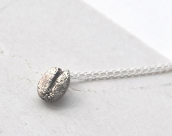 A Silver Coffee Bean Necklace