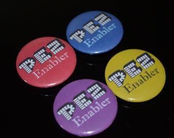 """PEZ Enabler 1.25"""" Button (Choose Your Color)"""
