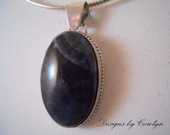 Sodalite Sterling Silver Pendant CSS289P