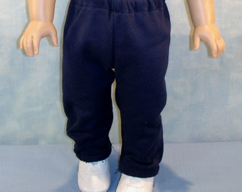 18 Inch Doll Clothes - Navy Sweatpants handmade by Jane Ellen to fit 18 inch dolls