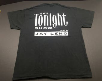 Vintage 90s The tonight show with jay leno t-shirt mens XL comedy talk show NBC television