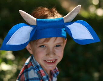 Babe the Blue Ox costume - Blue Ox tail and Ears