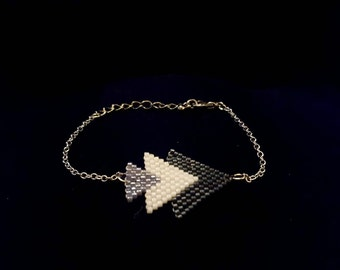 Delica Beaded Arrow Bracelet/Earrings