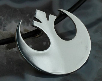 Silver Star Wars Rebel Alliance pendant, handmade
