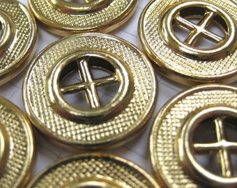 100 Gold Wheel Buttons