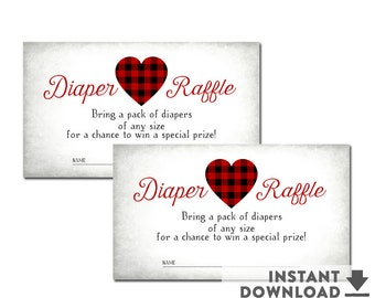 SALE Printable Diaper Raffle Tickets Sweetheart Valentine Baby Shower Heart Baby Shower (INSTANT DOWNLOAD) No.1071BABY