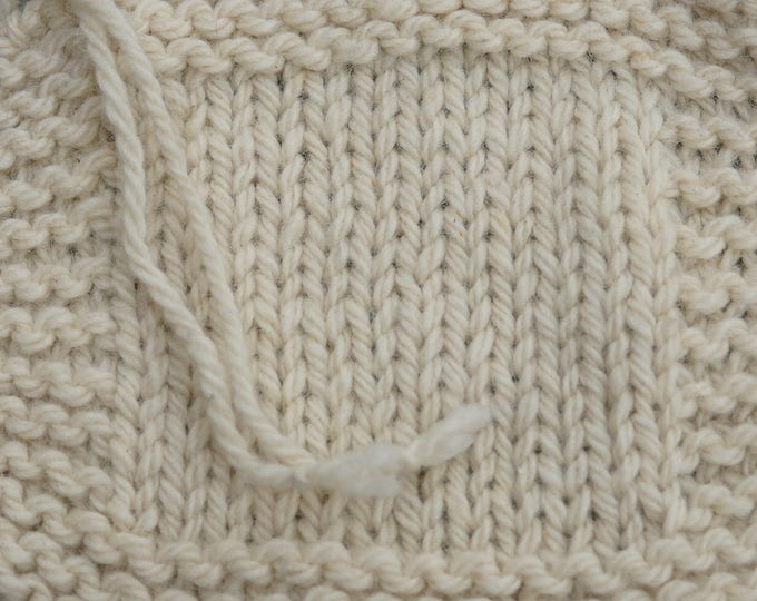 Bulky White Sheep  undyed 3 ply 150 yd skein Wool Yarn