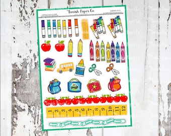 School Time Decorations Planner Stickers, School stickers, back to school, teacher stickers