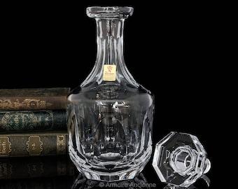 Vintage Cut Crystal Decanter for Whiskey, Cognac, Wine, Liquor, Bar Bottle / Mid Century Bar Cart Accessories