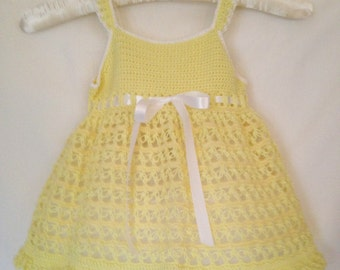 Yellow Baby Dress, Baby Dress, Baby Party Dress, Yellow Toddler Fancy Dress, Yellow Baby Dress, Yellow Dress, Toddler Summer Party Dress