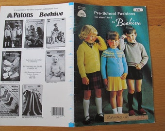 Pre-School Fashions for Sizes 1 to 6 by Beehive / Beehive 110 / Childrens knitting patterns