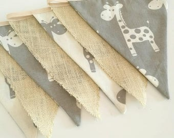 Fabric bunting / garland / flags / nursery decor