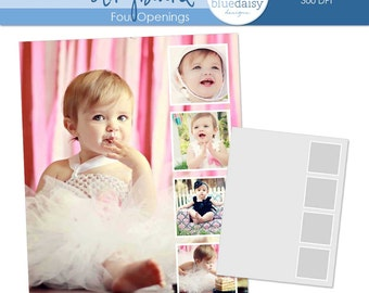 11 x 14 Storyboard (4 Openings) - Photographer Photoshop Template