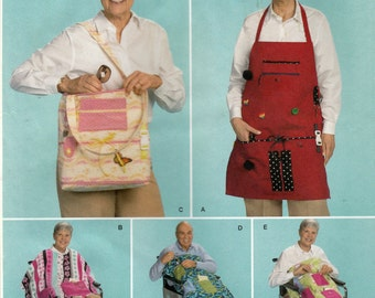 Simplicity 2623 Sewing Pattern, Wheelchair Accessories, Cape and Apron, One Size for All, Uncut Sewing Pattern