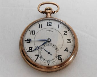 1920 Illinois Size 12, 17 Jewels, Grade 255 openface Pocket watch. Keeps accurate Time