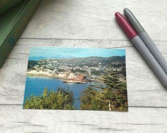 British coastal town vintage postcard, travel postcard, Oban Scotland, postcard for framing, for display, Uk vintage postcard, etsy UK