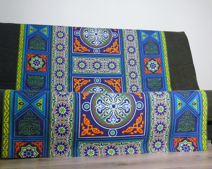 Table cloth cover khayameya or fabric tent typical Egyptian. Great gift for the home.  Throw