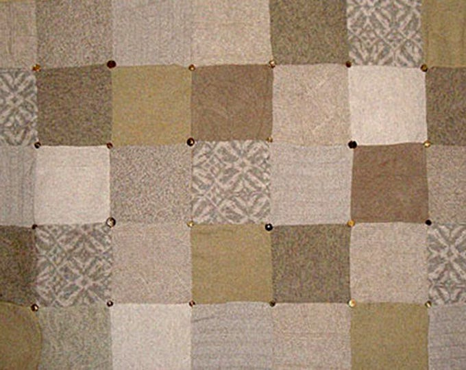 "My ""Desert Camel"" Wool Sweater Quilt — I can make one similar for you!"