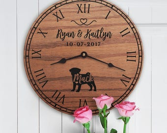 Gift for the Home of Couple with Pug Dog - Pug Decor - Personalized Dog Gift - Family Dog Custom Names - Pug Dog Lovers - Pug Lovers