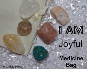 Joyful Crystal Medicine Bag I AM Joyful / Happy / Blissful