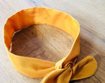 adjustable yellow headband