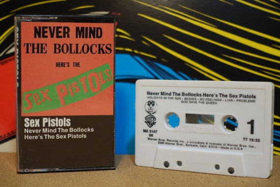 Never Mind The Bollocks Here's The Sex Pistols by Sex Pistols Vintage Cassette Tape