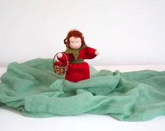 Felt doll - Waldorf inspired - Nature table - Waldorf gift  - Handmade - Wool felt - Eco friendly - Fllower child - Summer