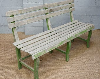 Vintage Painted Pine Bench