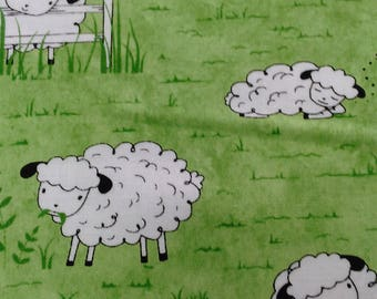 Sheep's and peeps cotton fabric by Quilting treasures