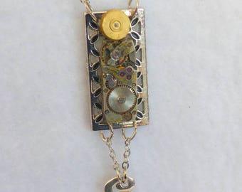 Steampunk Necklace --Vintage Watch Movement  SN317