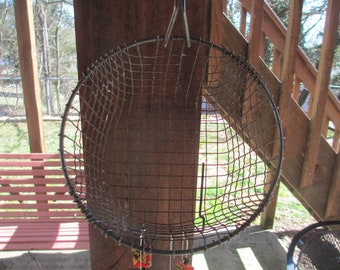 Recycled Fry Basket Silverware Wind Chime