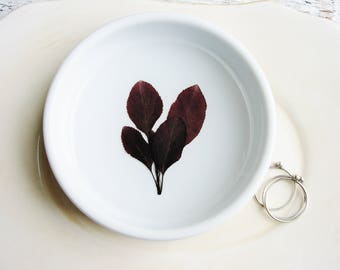 Leaf Ring Dish, Ring Dish with Real Leaves, Engagement Gift, Nature Lover Gift