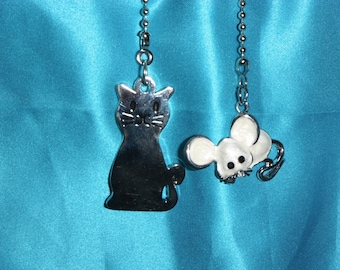 Cat fan pull etsy cat mouse intricate metal ceiling fan pulls mozeypictures Image collections